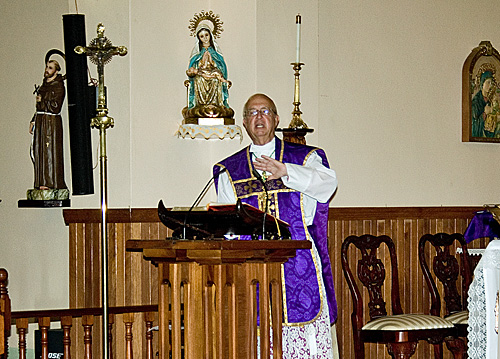 Bishop's Visit to St. Joseph High School
